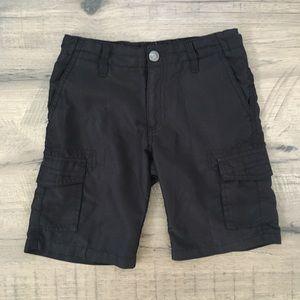 Micros size 5 black cargo shorts, adjustable waist
